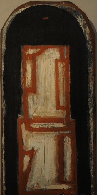 """Madera con Forma Blanca"", altarpiece in wood"
