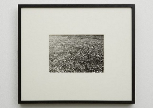 RICHARD LONG England, 1968 vintage silver print image: 5 1/2 x 8 inches (14 x 20 cm) framed: 14 x 16 1/4 inches (35.6 x 41.3 cm) © Richard Long Courtesy: Sean Kelly, New York