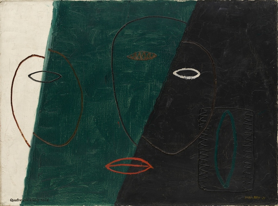 Man Ray b. 1890, Philadelphia; d. 1976, Paris Four or Five Times (Quatre ou cinq fois), 1929 Oil on canvas, 54 x 72.7 cm Solomon R. Guggenheim Museum, New York, Gift, Mr. and Mrs. Albert Lewin © 2013 Man Ray Trust/Artists Rights Society (ARS), New York/ADAGP, Paris