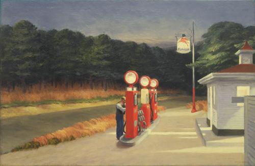"""Edward Hopper (1882–1967) Gas 1940 Oil on canvas 26 1/4 x 40 1/4"""" (66.7 x 102.2 cm)"""