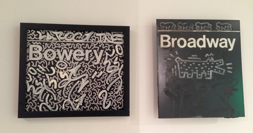 LA2 (Angel Ortiz) (left) Bowery Tag LA Roc, 1983-84 Keith Haring (right) Broadway Tag, 1983-98 Photo by Gustavo Taborda