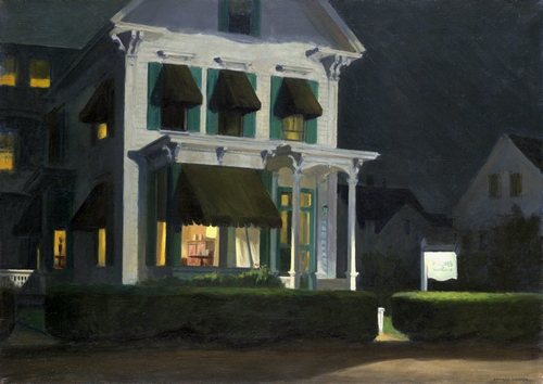 Edward Hopper (1882–1967), Rooms for Tourists, 1945. Oil on canvas, 30 1/4 × 42 1/8 in. (76.8 cm x 107 cm). Yale University Art Gallery, New Haven; bequest of Stephen Carlton Clark, B.A. 1903 1961.18.30