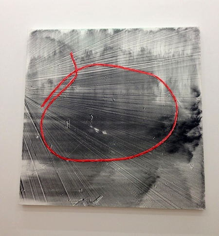 Jack Whitten Single Loop: For Toots, 2012 Acrylic on canvas 58h x 58w inches