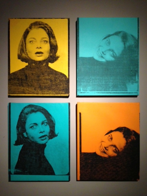 "Andy Warhol ""Judith Green"" acrylic and silkscreen ink on linen."