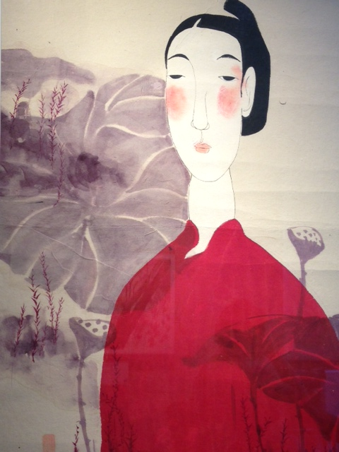 Vu Thu Hien Lady In Red