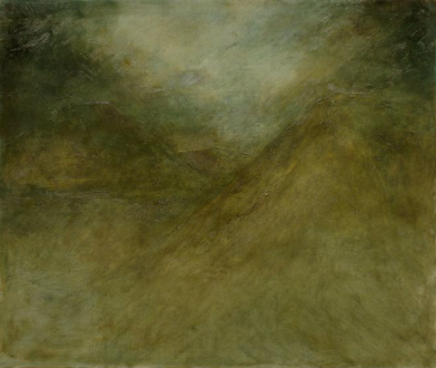 Jake Berthot North Mountain Ridge, 2013 Oil on Linen, 43 1/2 x 51 1/2 inches (110.5 x 130.8 cm)