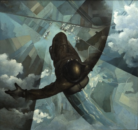 Tullio Crali Before the Parachute Opens (Prima che si apra il paracadute), 1939 Oil on panel, 141 x 151 cm