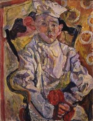 "Soutine, c. 1919, ""The Pastry Chef"" (""The Baker Boy""), 26 x 20"" Kunstmuseum, Basel"