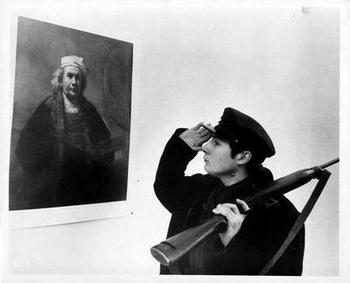"Jean-Luc Godard, 1963, The Soldier Salutes the Artist, ""The Riflemen"", Les Carabiniers"