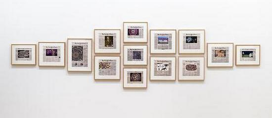 Fred Tomaselli Current Events, 2014 Installation view