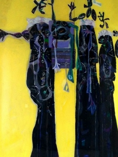 Yellow Pieta 2008. Acrylic on plexiglass 220x220cm