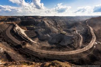 """""""Molodezhny""""coal mine. Mid-twentieth century deportation site. Karaganda region Kazakhstan. Photograph by Vadim Makhorov"""