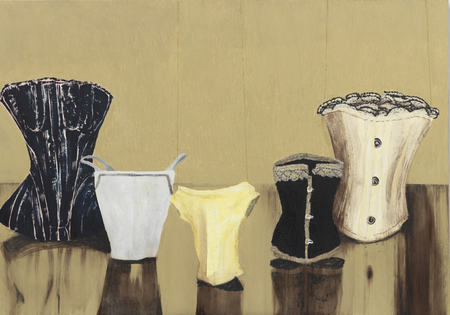 Stays, 2014 Oil on panel 39 ½ x 56 ¾ inches