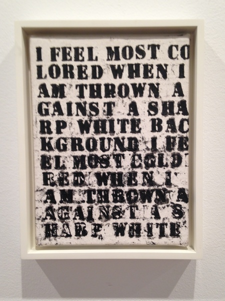 Glenn Ligon, Untitled (Study for I Feel Most Colored) 1990, oilstick on canvas, 12 x 9 inches