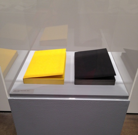 Anthony McCall, Yellow Solid, Black Solid, 1973, 2 books, offset lithography on paper book, 9 x 5 5/8 x 7/8 inches each.