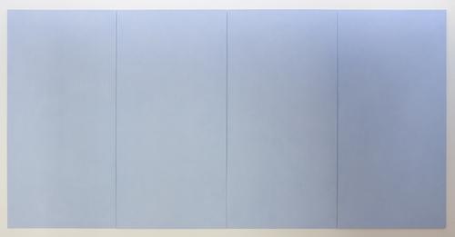 Ettore Spalletti Carte di azzurro verso il mare color impasto on board 94.5 × 189.0 × .1