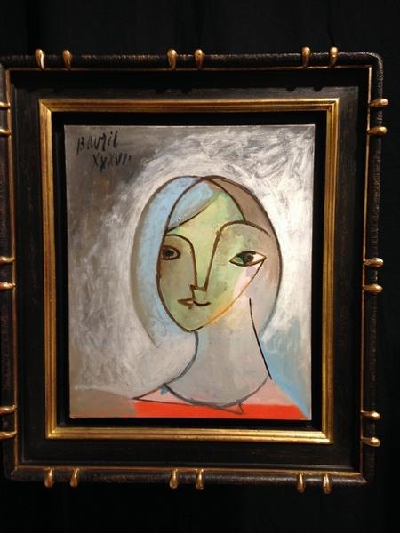 Pablo Picasso Jeune Femme au Large Cou, de face, 1936 Oil on canvas, 21 5/8 x 18 1/8 inches