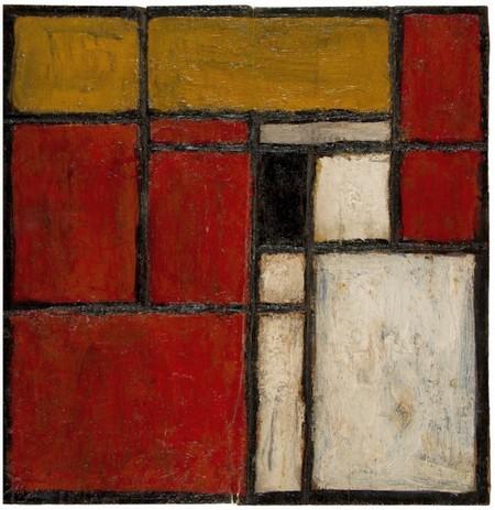 Joaquín Torres-García Composición geométrica; Construcción No. 3 Oil on woods, 11.4 × 11.4