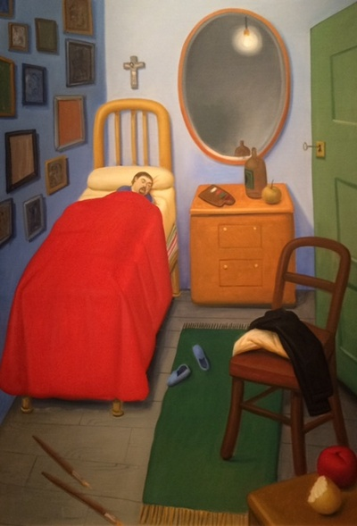 My room in Medellin after Van Gogh 2011, Oil on canvas 143x98cm
