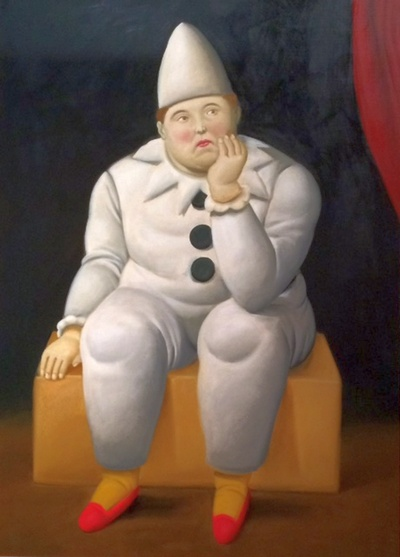 Pierrot 2007, Oil on canvas, 137x99cm