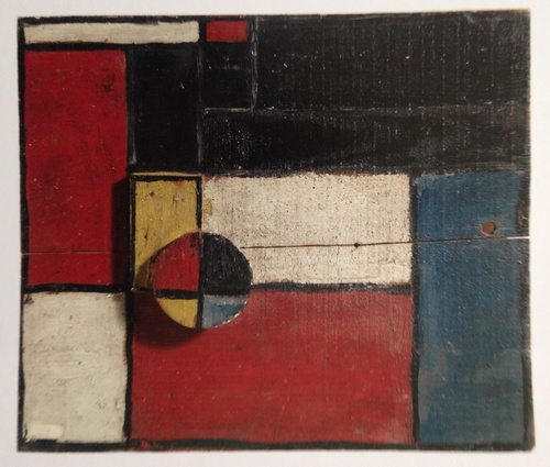 Plano de color con dos maderas superpuesta, 1928 painted on wood, 20x24.4 cm