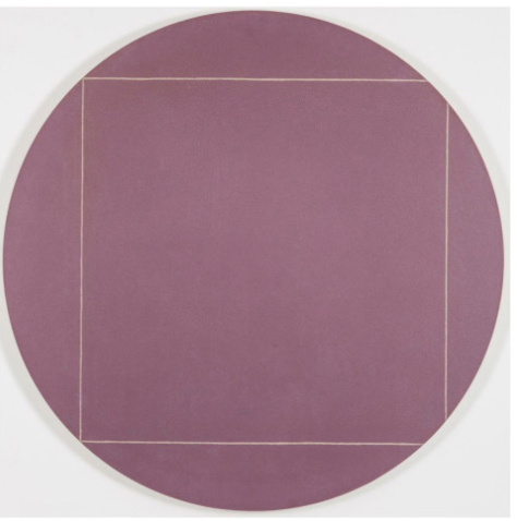 Robert Mangold -Circle Painting #4,Acrylic and white pencil on canvas,8.7 × 8.7 inches